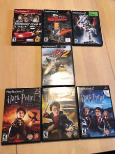 Play Station PS 2 box of 7 games
