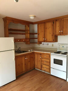 Sold PPU Fridge, Stove, Pine Cabinets, Counter and Sink