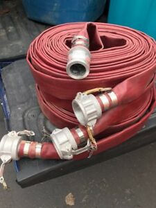 """Discharge Hose (Lay Flat) 1.5"""" with quick connect - brand new"""