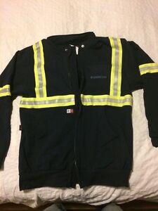 Construction hoodie, water repellent! with reflective stripes!