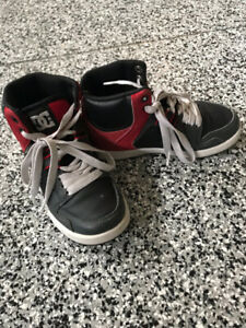 Size 13 toddler - youth boy DC high top runners - HALF PRICE