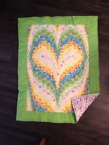Hand Quilted Baby Heart Quilt - New
