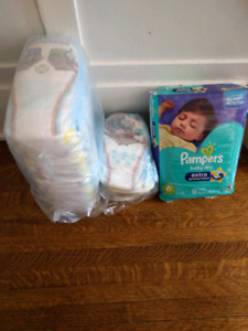 Assorted Pampers diapers and pull ups (sz 6 and 3T-4T boys)