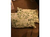 Two leaf pattern cushions
