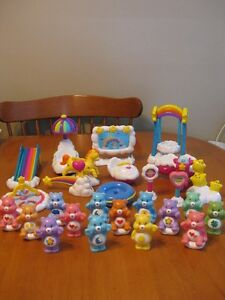 CARE BEARS LOT OF BEARS AND CARE A LOT PLAYSETS