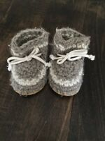 Padraig Cottage wool baby slippers - 2 pairs both size B7