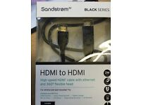 Sandstrom HDMI to HDMI plus high speed data 2 meters