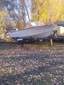 17.5 ft boat for sale with trailer