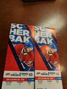 BILLET HOCKEY CANADIENs vs HURRICANES / SECTION DESJARDINS