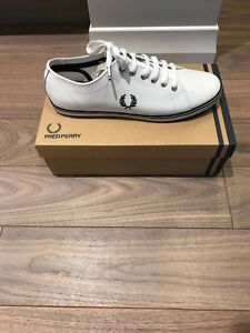 Fred Perry Kingston Leather White 10.5