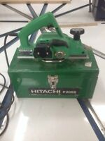 "Hitachi 3-1/4"" power planer"