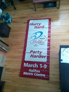 "24"" x 57""  vinyl banner (double sided) - 2003 Brier in Halifax"