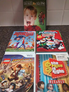 DVD movies and Wii games