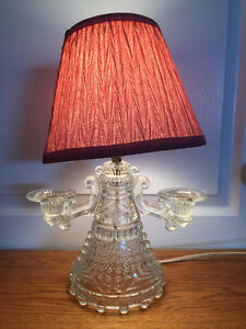 Antique Glass Table Lamp