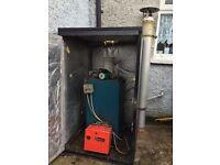 Warmflow oil boiler 50/70 riello burner