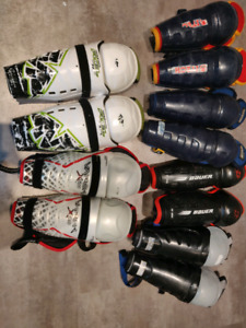 Shin pads various sizes