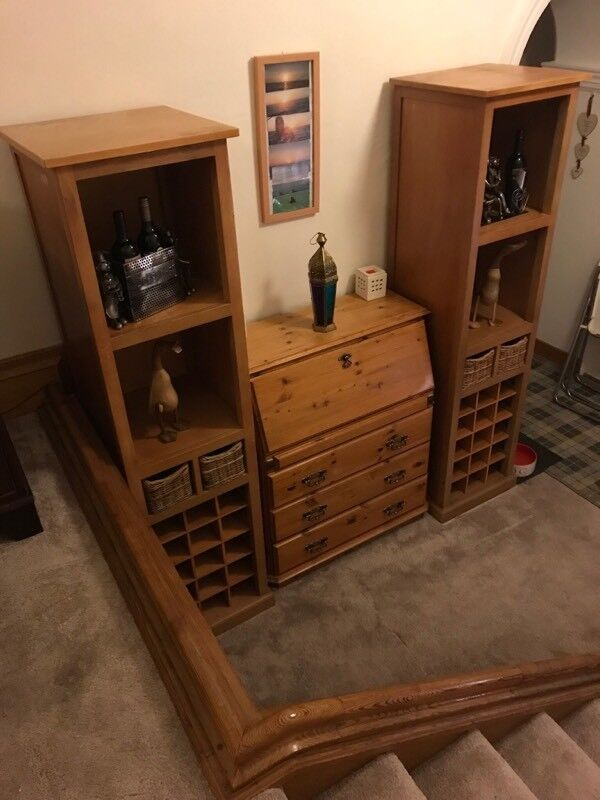 Wine units/ Desk Bureau (REDUCED £100) FOR ALL THREE