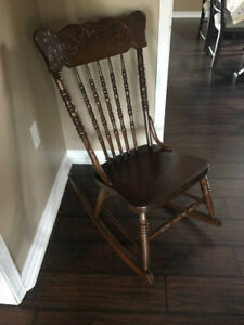 Vintage Wooden Rocking Chair c. 1930