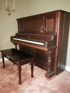 Nordheimer upright piano and bench