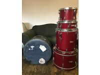 Edgware / Boosey & Hawkes 50s/60s Red Sparkle Drum Kit