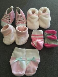 0-3mths---Shoes, Slippers, and Socks Lot