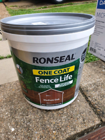 Ronseal one coat fence paint 9 litres