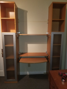 Ikea Shelves and Desk