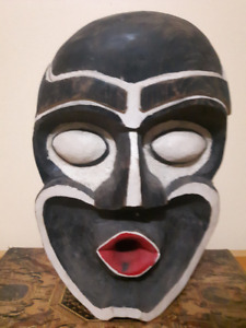 1963 & 1964 West Coast Native Mask Art Carved (signed)