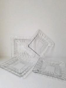 Crystal Dessert Plates Set of 4