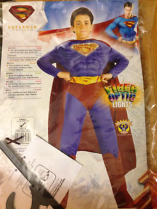 Halloween Costume- Superman 4- 6 year old with Fibreoptic lights