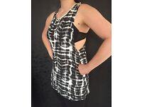 Brand new black white boohoo vest top size 10