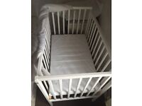 White space saver cot with mattress