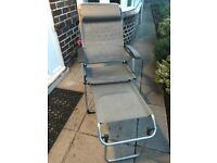 Lafuma chairs x3 with 2 footstools