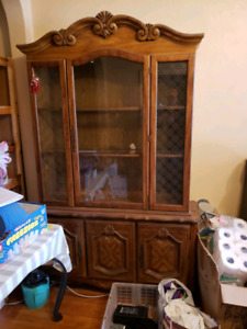 Wood China Cabinet/Hutch shelf