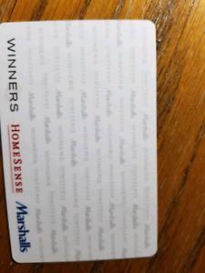 $40 Marshalls/Home Sense/Winners Gift Card