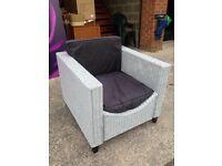 Wicker Rattan Garden/Conservatory Chair