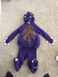 Purple dragon costume age 18 to 24 months