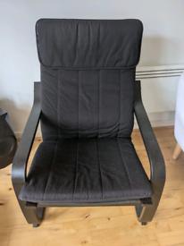 Ikea Poang chair - black fabric
