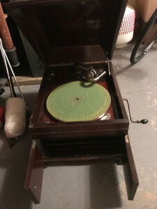 vintage Victrola record player