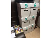 Marvel DC COMIC COLLECTION OVER 700 titles in 6 boxes bagged and boarded