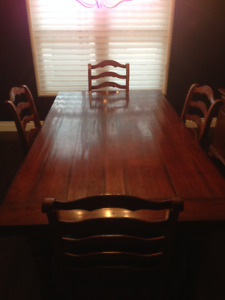 Uniquely Built, Gorgeous Harvest Dining Table and Chair Set