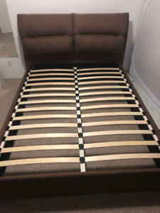 Brand New! #202 Queen size Brown Fabric Bed Frame