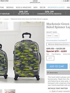 Kids luggage from pottery barn.