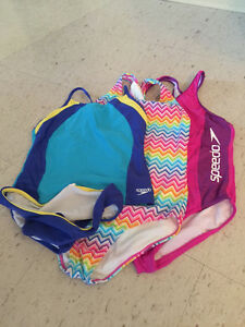 Girls 3 bathing suits size 14