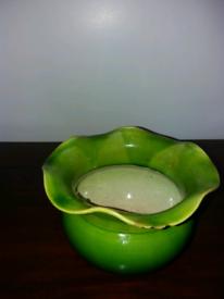Green decorative dish.