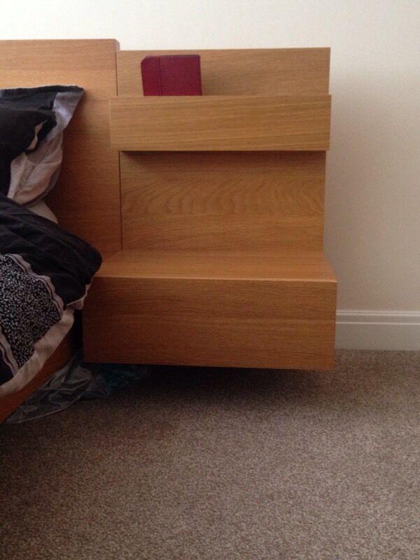 Ikea Malm Floating Bedside Tables In Warrington