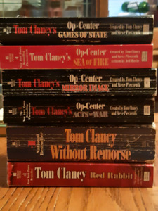 6 Tom Clancy book used condition