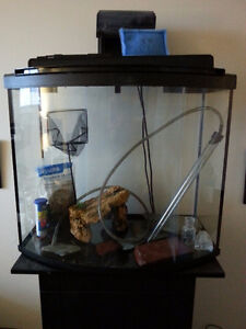 20gal Bow Front Tank with Stand and Accessories- NEW PRICE!