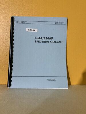 Tektronix 070-5557-01 494a494ap Spectrum Analyzer Operators Manual