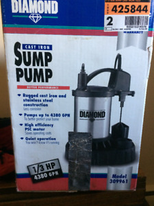 Sump pump 1/3hp 4380GPH